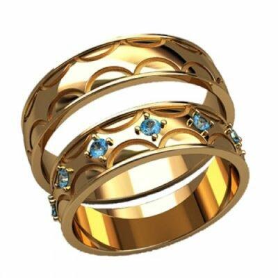 Обручальные кольца 20006