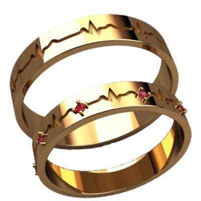 Обручальные кольца 20035